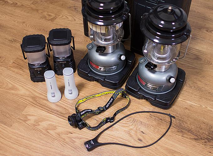 アウトドア用の照明器具