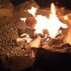楽しいDIY!庭に焚火場を作りました♪