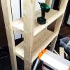楽しいDIY!廊下の端のデッドスペースに棚を作りました♪