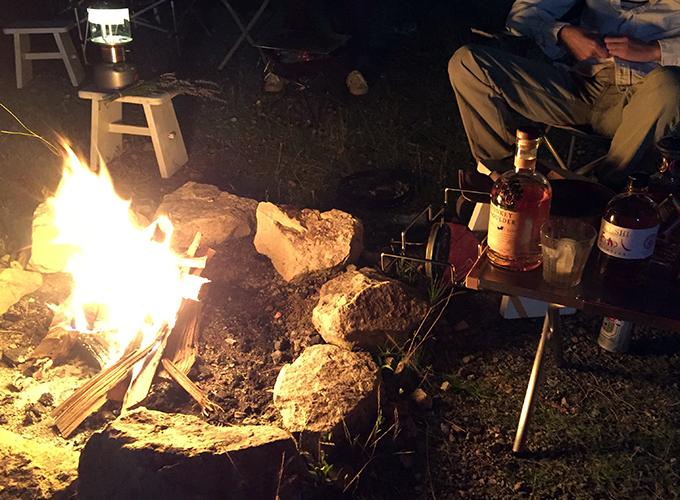焚火&ウイスキー