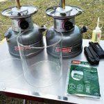 コールマン ガソリンランタンのガラスグローブが割れたので、ついでに消耗品も交換しました!