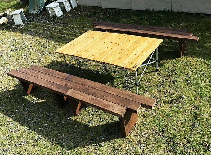 ガーデンベンチ 兼 囲炉裏テーブル DIY