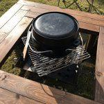 楽しいDIY!組み合わせ自由の「ガーデンベンチ 兼 囲炉裏テーブル」を作りました♪