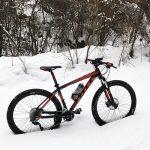 久しぶりのMTB遊びは想定外の雪!冬山ランチポタリング♪