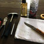 オピネルナイフ(カーボンブレード)の黒錆加工&オイル仕上げ