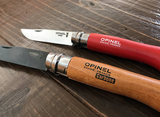 オピネルナイフの黒錆加工&オイル仕上げ