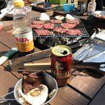 牛タン塩釜焼き&燻製&炭火バウムクーヘン!友人家族と庭でBBQを楽しみました♪