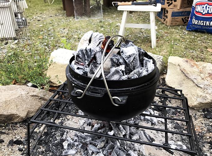 ダッチオーブンで牛タン塩釜焼き