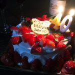 妻の40才の誕生日♪