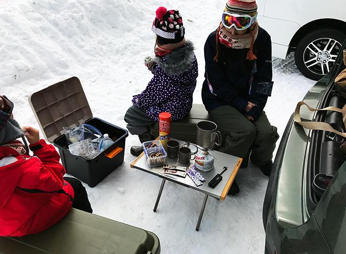 スキー場でヤマメシ