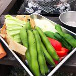 家庭菜園のソラマメを初収穫!すぐに庭で炭火BBQをして食べました♪
