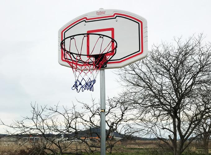 単管パイプDIYで庭にバスケットゴールを設置
