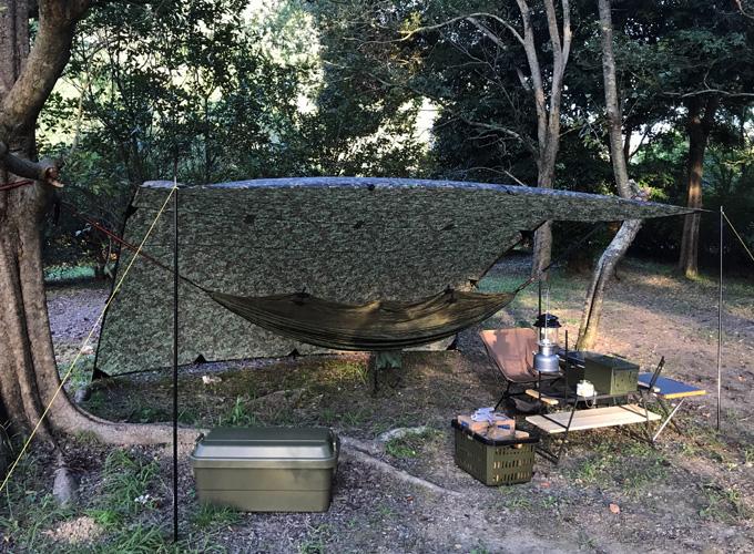 ハンモック泊キャンプ