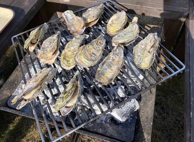 BBQ 殻付き牡蠣 炭火焼き