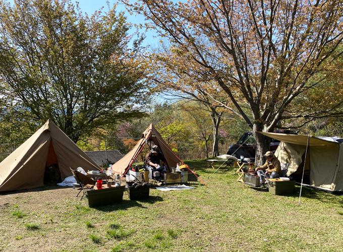 ソロキャンプ(牧野キャンプ場)